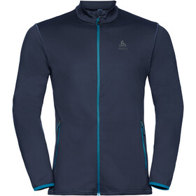 Odlo Alagna Midlayer Doorlopende Rits Heren, diving navy